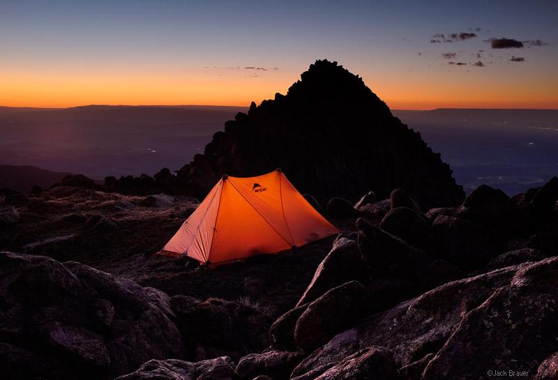 camping, Mt. Sneffels, San Juan Mountains, Colorado, June