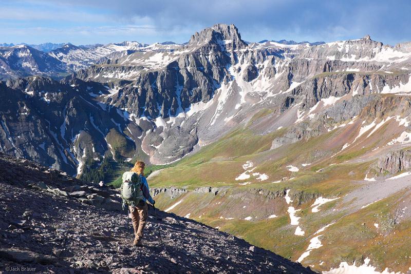 Potosi Peak, Whitehouse Mountain, San Juan Mountains, Colorado, June, hiking