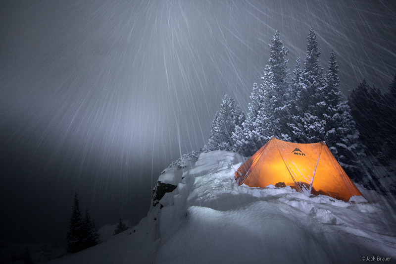 Sneffels, San Juan Mountains, Colorado, winter, camp, tent, snowy