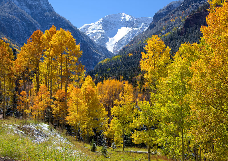 San Juan Mountains, Colorado, autumn, aspens, United States Mountain, Camp Bird, Ouray