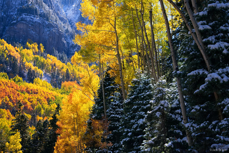 San Juan Mountains, Colorado, autumn, aspens