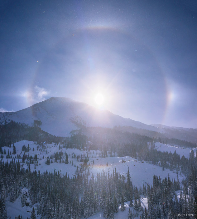 sundog, Red Mountain, San Juan Mountains, Colorado, December