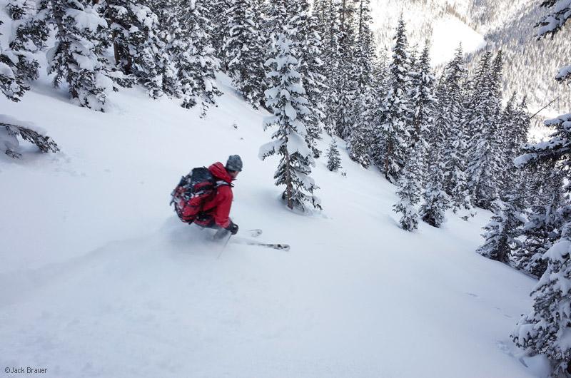 Tom Kelly, skiing, San Juan Mountains, Colorado, photo
