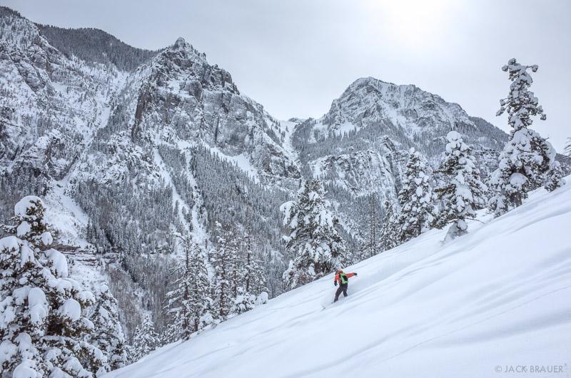 Colorado, Ouray, San Juan Mountains, Weehawken, skiing, February, powder