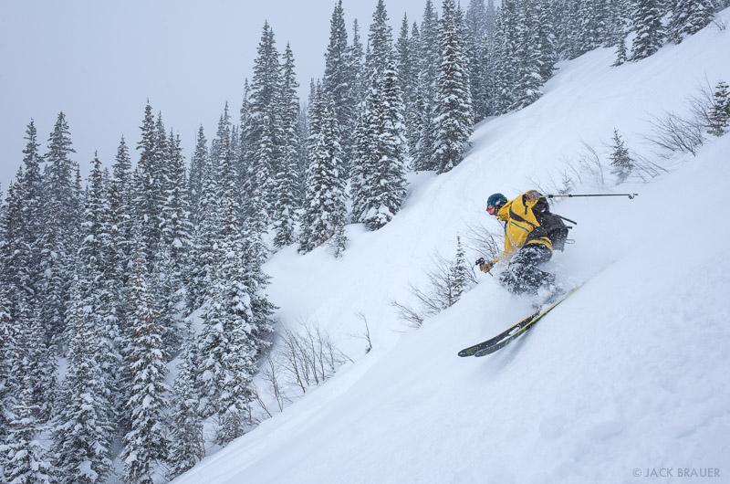 Colorado, Red Mountain Pass, San Juan Mountains, skiing, February, powder