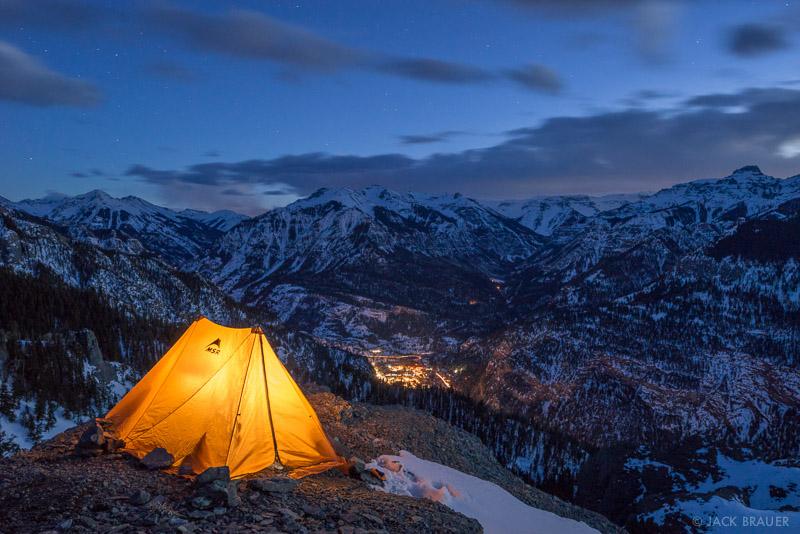 Bridge of Heaven,Colorado,San Juan Mountains,camping,tent, Ouray, February