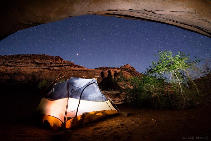 Choprock Canyon,Escalante,Escalante National Monument,Utah, alcove, camping, tent, stars