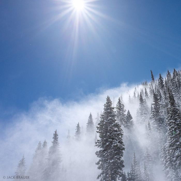 Colorado,Red Mountain Pass,San Juan Mountains, wind, snow