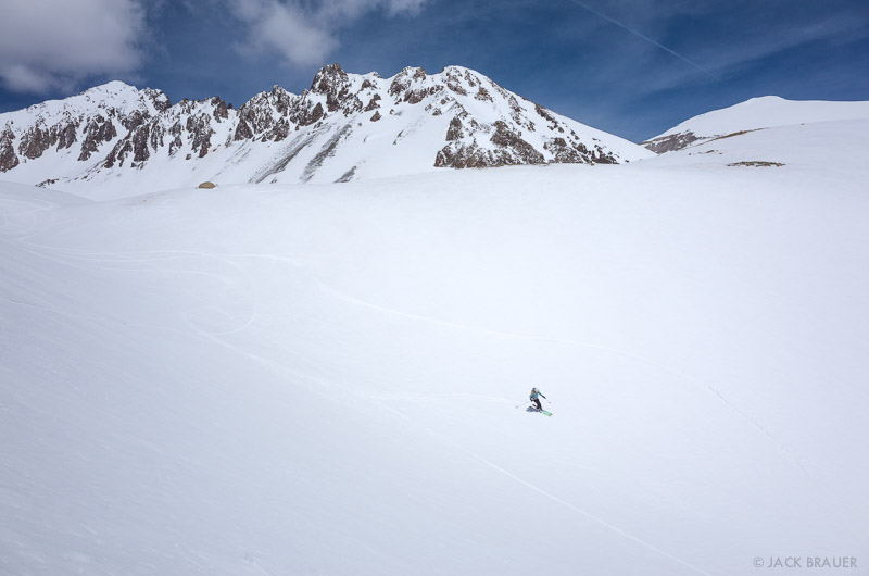 Colorado, San Juan Mountains, Sneffels Range, skiing