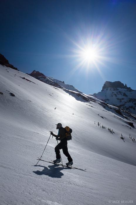 Cirque Mountain,Colorado,San Juan Mountains,Sneffels Range, skiing