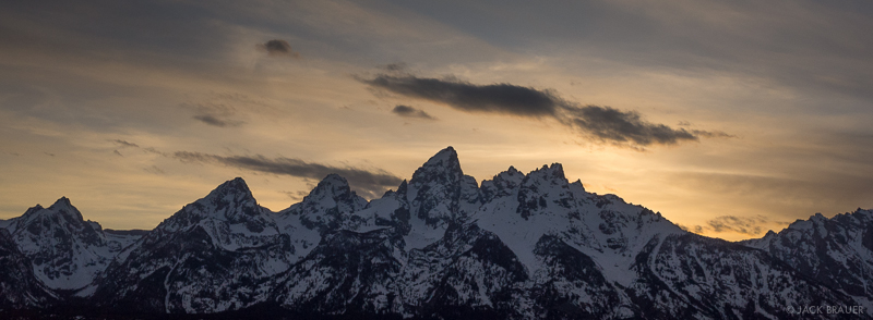 Wyoming, Tetons, sunset