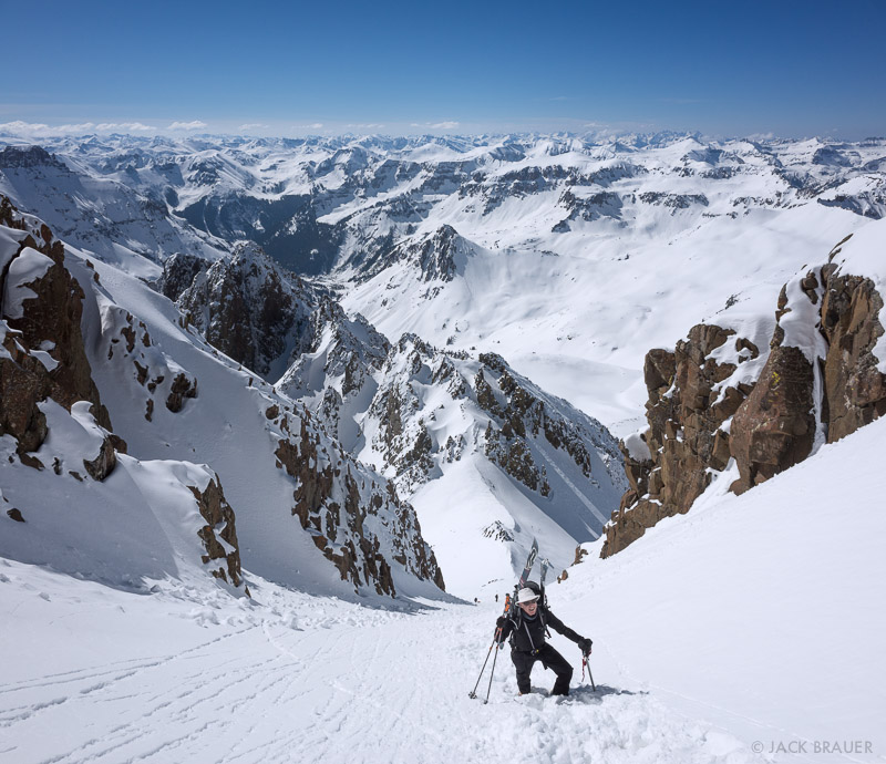 Colorado,Mt. Sneffels,San Juan Mountains,Sneffels Range, Lavendar Col