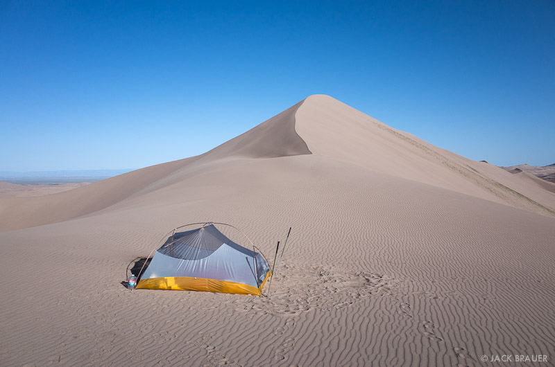Colorado, Great Sand Dunes, tent, camping