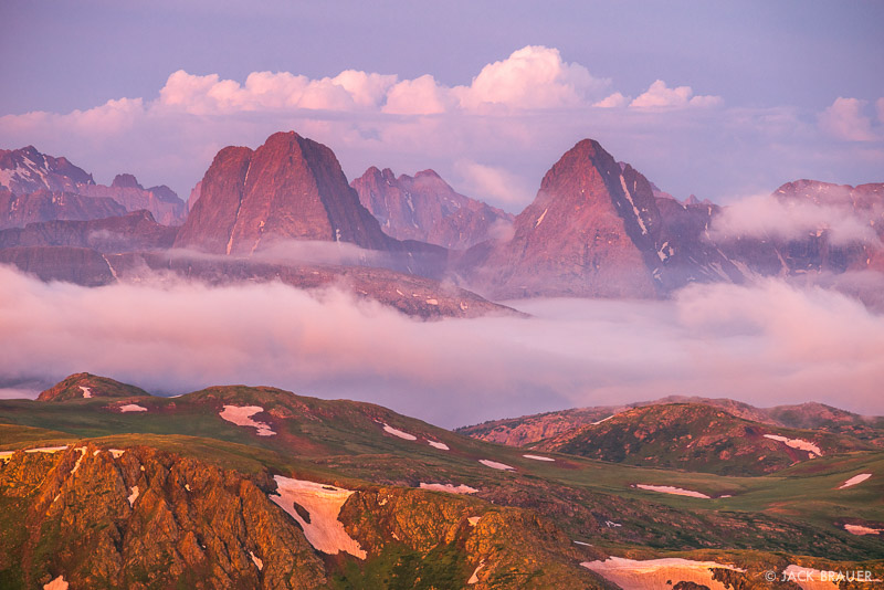 Colorado,Grenadier Range,San Juan Mountains,Weminuche Wilderness, Vestal Peak, Arrow Peak