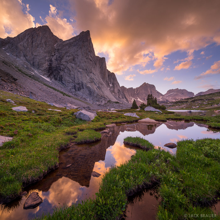 Ambush Peak,Mount Bonneville,Raid Peak,Wind River Range,Wyoming