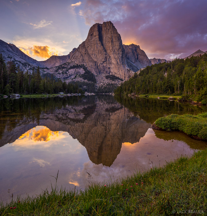 Cathedral Lake,Wind River Range,Wyoming, Cathedral Peak