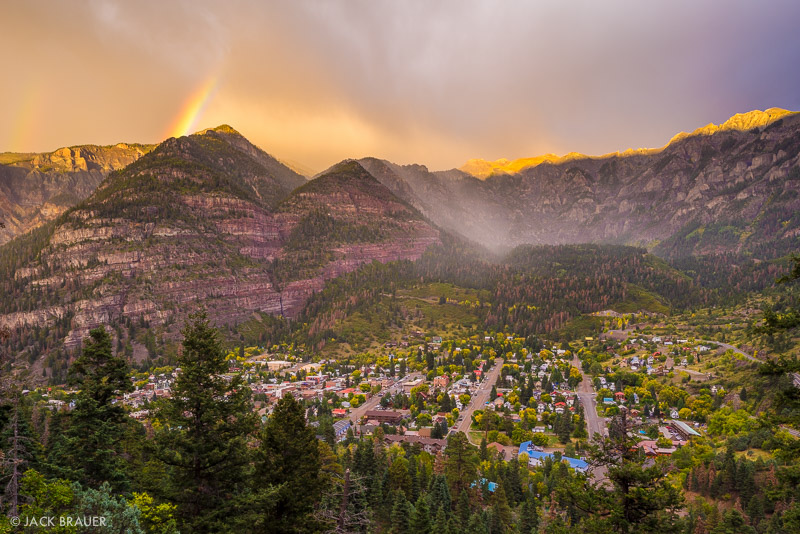 Colorado,Ouray,San Juan Mountains, rainbow, sunset