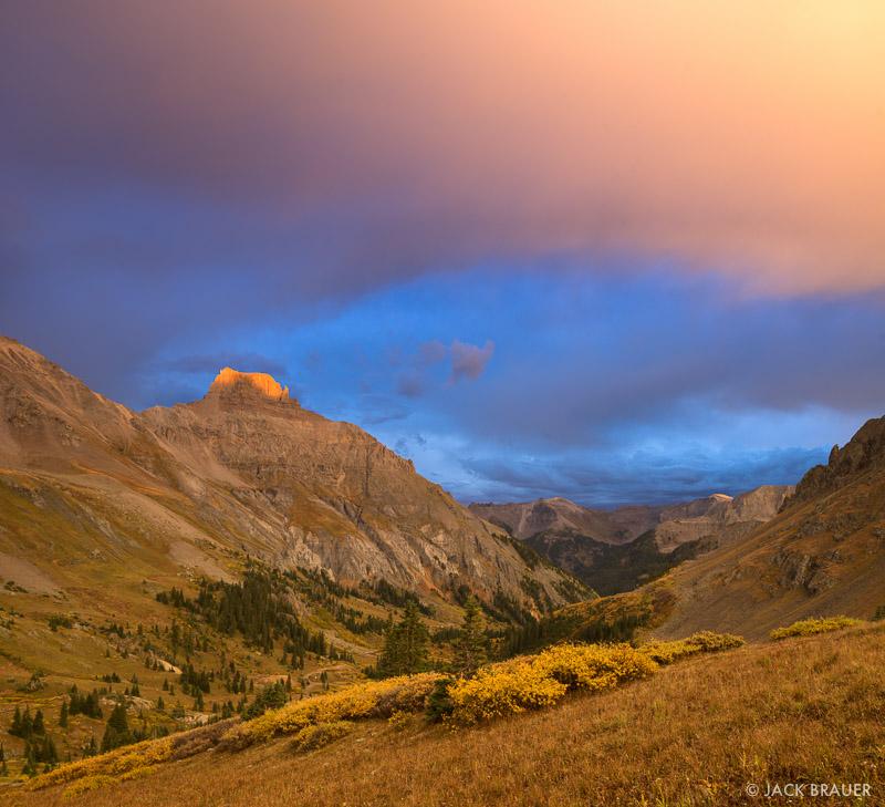 Colorado,Potosi Peak,San Juan Mountains,Sneffels Range, sunset, Yankee Boy Basin
