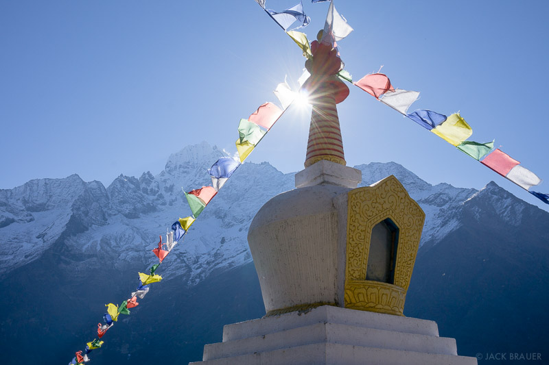 Himalaya,Khumbu,Nepal,prayer flags,stupa