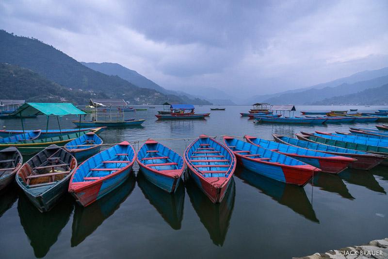 Nepal,Pokhara, Himalaya, Canoes, Phewa Tal