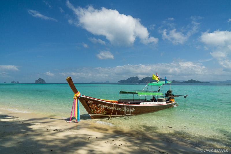 Ko Kradan, Thailand, Andaman Sea, boat, beach