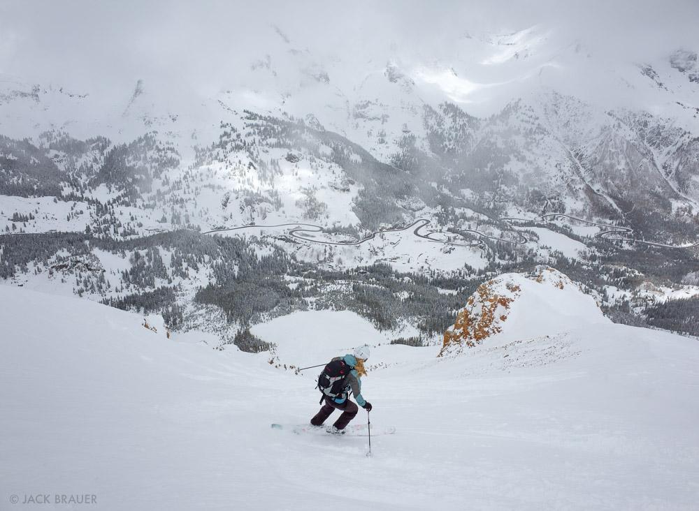 Colorado,Red Mountain Pass,San Juan Mountains, skiing