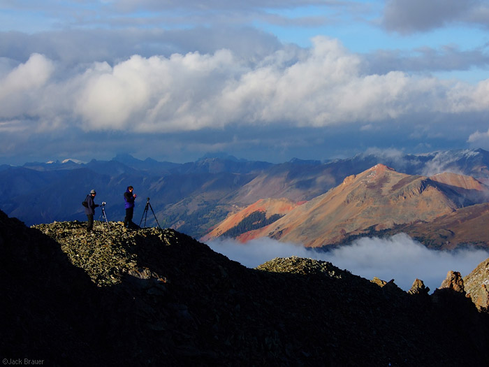photographers in the mountains, photo