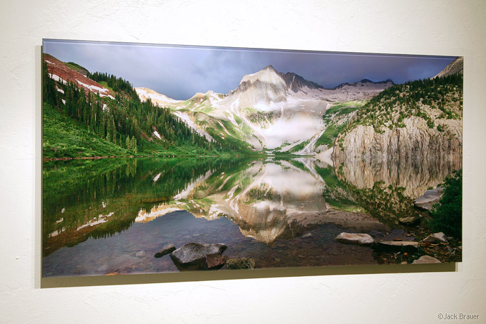 Acrylic glass mounted 