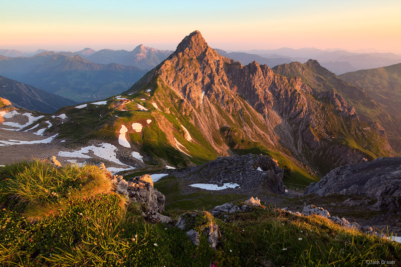 Allgäuer Alps, Germany, Fiderapasshütte, Fiderapass, sunrise