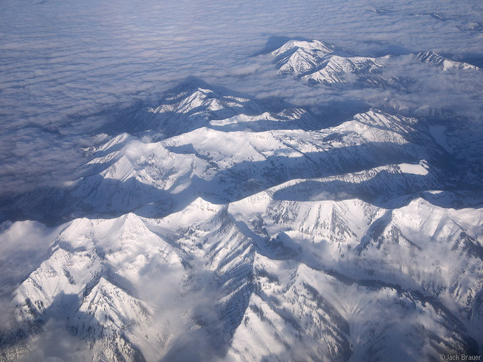 Mount Baird, Idaho, Snake River Range, aerial, clouds, photo