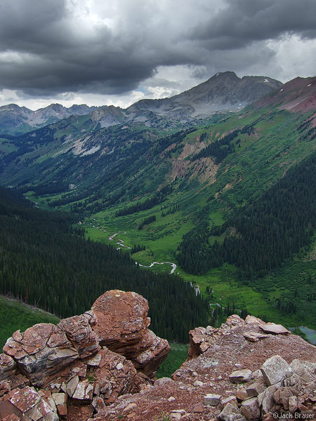 Hagermann Peak, viewpoint, Elk Mountains, Colorado, Maroon Bells-Snowmass Wilderness, photo