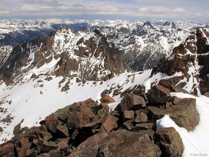 Mt. Eolus, Silverton, fourteeners, San Juan Mountains, Colorado, photo