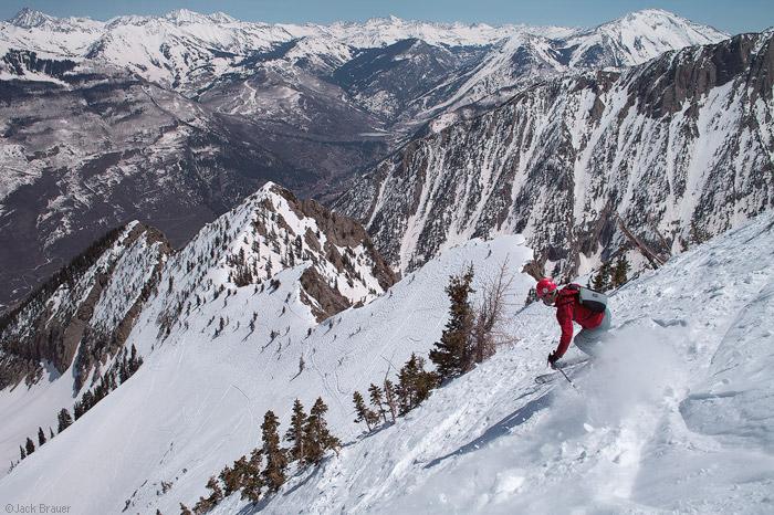 Ragged Mountains, ski descent, Colorado, photo