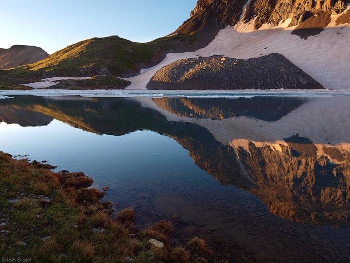 Columbine Lake, reflection, San Juan Mountains, Colorado, photo