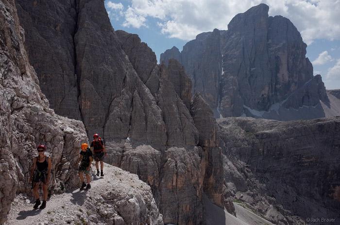 Dolomites, Italy, via ferrata, Strada degli Alpini, Zwolferkofel, photo