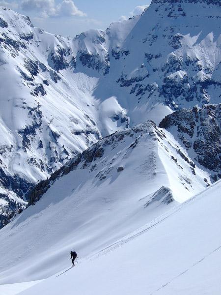 spring skiing, Sneffels Range, Colorado, photo