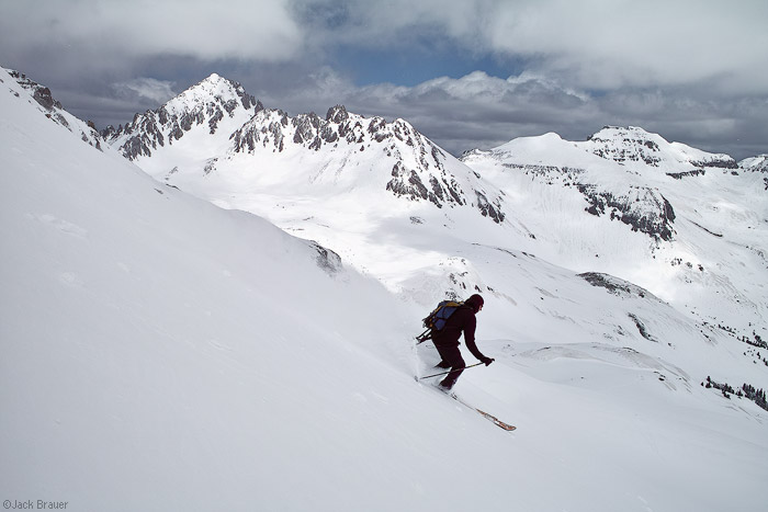 Skiing, Yankee Boy Basin, Mt. Sneffels, Colorado, photo