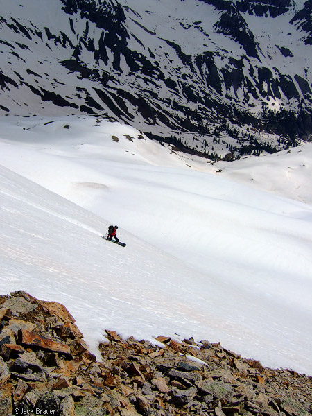 Snowboarding, Yankee Boy Basin, San Juan Mountains, Colorado, photo