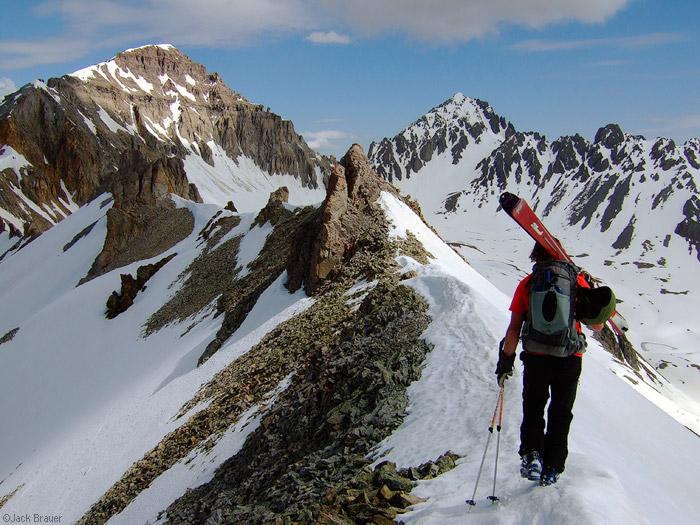 ridgeline, ski, San Juan Mountains, Colorado, photo