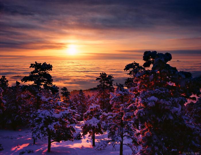 Boulder Inversion Sunrise Front Range Foothills