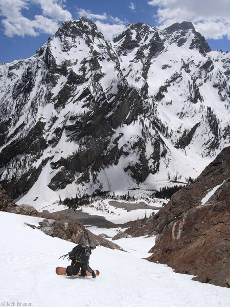 Tetons, Wyoming, snowboarding, Mt. Moran, photo