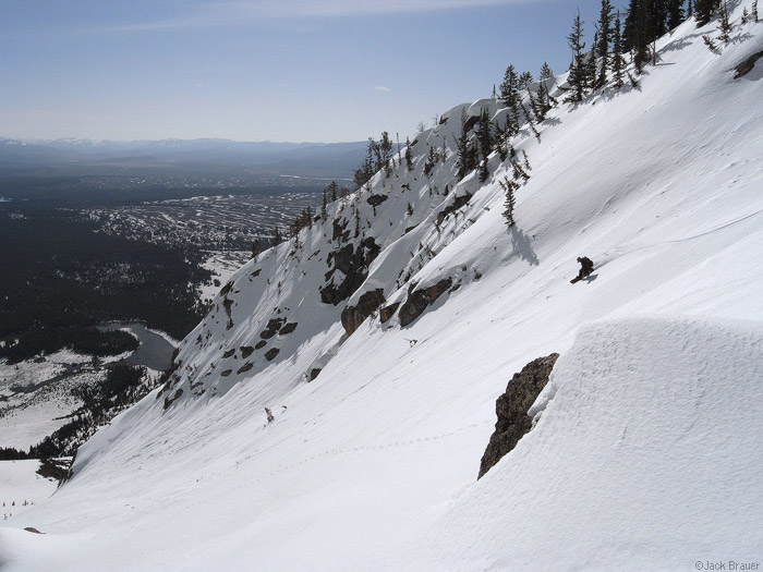 Tetons, Wyoming, snowboarding, Rockchuck Peak, photo