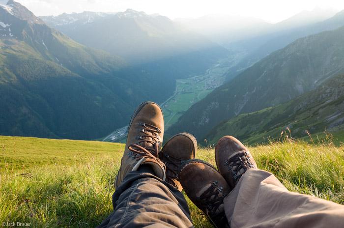 Lechtal Alps, Austria, boots