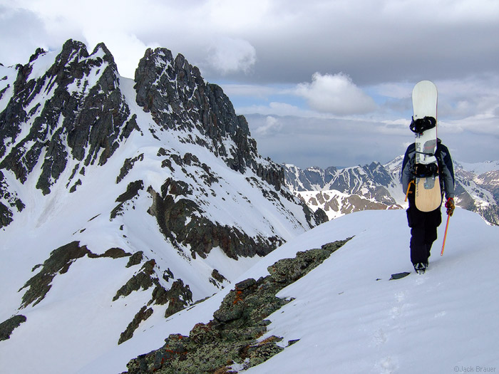South Lookout Peak, hiking, couloir, photo