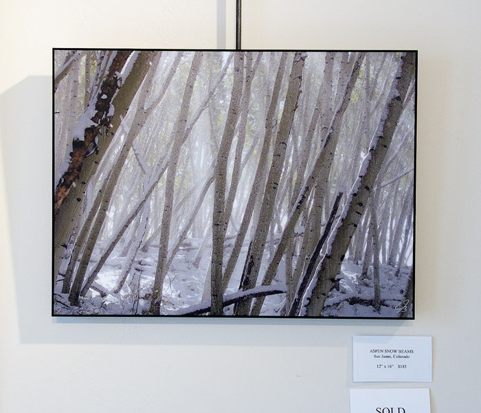 Aspen Snow Beams, print, photo