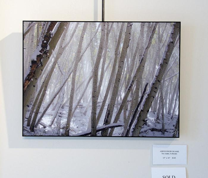 Aspen Snow Beams, print, photo