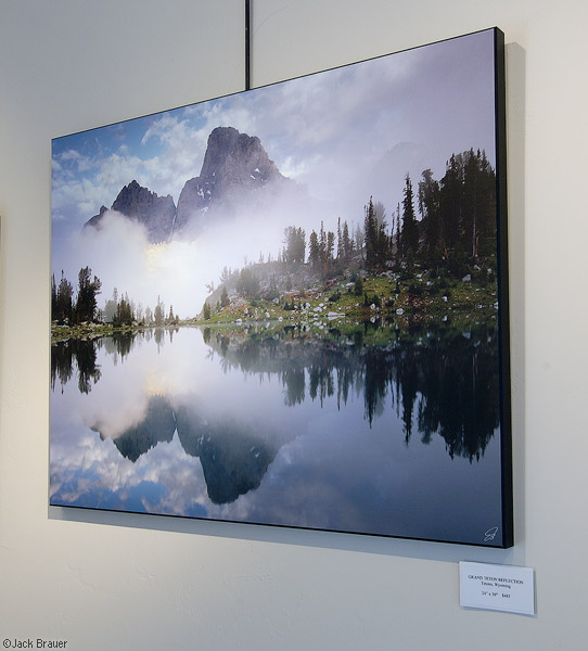 Misty Teton Reflection, print, photo
