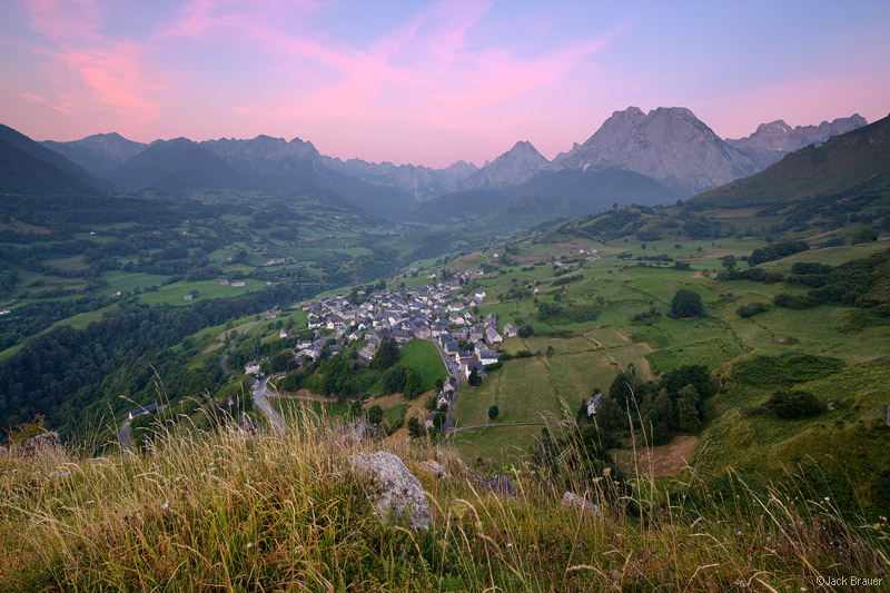 Lescun, France, Pyrenees, sunrise, town