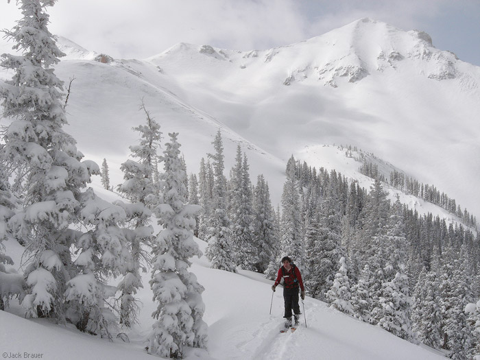 skinning, skiing, San Juans, Colorado, photo
