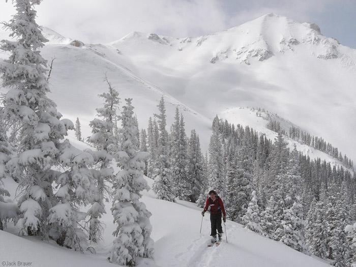 skinning, skiing, San Juans, Colorado, photo